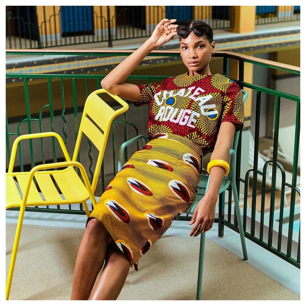Tribal Print Bodycon Pencil Skirt