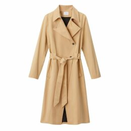 Premium Long Cotton Trench Coat