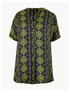 M&S Collection Printed Longline Tunic