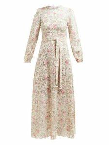 Zimmermann - Honour Broderie Anglaise Cotton Midi Dress - Womens - Cream