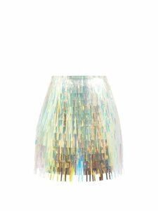 D'ascoli - Meadow Floral Print Cotton Blouse - Womens - Blue