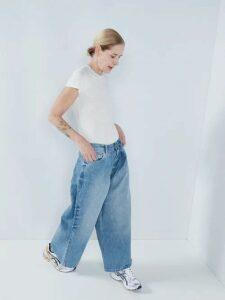 Lisa Marie Fernandez - Eugenie Ruffled Metallic Cotton Blend Dress - Womens - White Gold