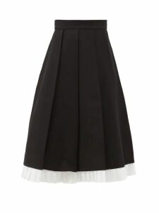 Lisa Marie Fernandez - Poet Tie Neck Linen Blend Dress - Womens - Green