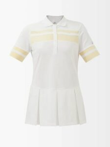 Evi Grintela - Elsa Floral Print Silk Twill Shirtdress - Womens - Red White