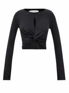 Gül Hürgel - Floral Print Balloon Sleeve Midi Dress - Womens - Navy Print