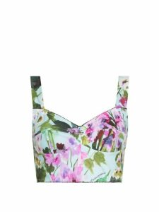 Beulah - Aditi Tile Print Silk Midi Wrap Dress - Womens - Green Multi