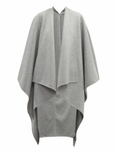 Joseph - Wool Blend Poncho - Womens - Grey