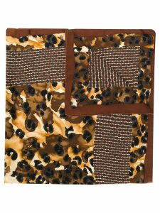 Yves Saint Laurent Pre-Owned animal print scarf - Brown