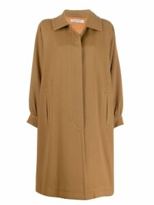 Yves Saint Laurent Pre-Owned '1980s oversized coat - Neutrals