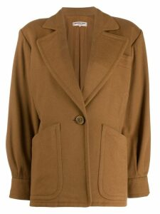 Yves Saint Laurent Pre-Owned 1980s one button jacket - Brown