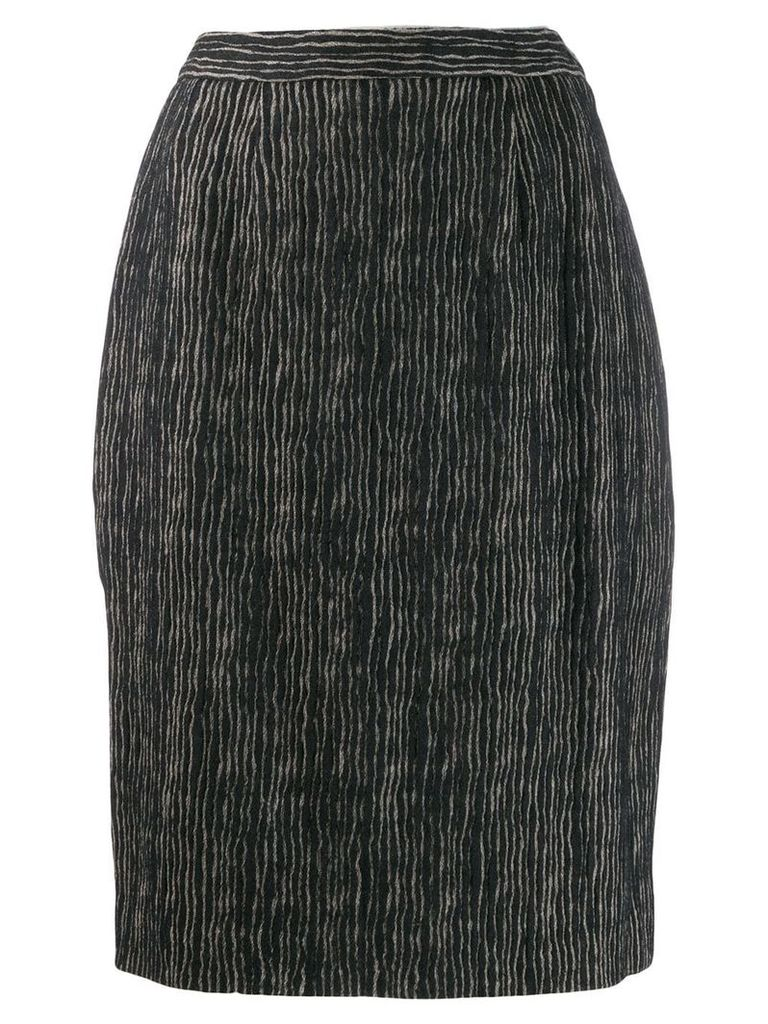 Balmain Pre-Owned 1980's striped skirt - Black