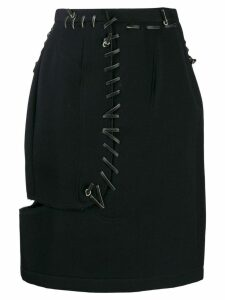 COMME DES GARÇONS PRE-OWNED '1990s lace-up pencil skirt - Black