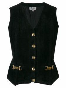 Céline Pre-Owned 1970's horsebit details waistcoat - Black