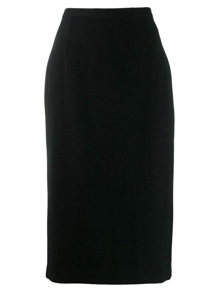 Dolce & Gabbana Pre-Owned 1990's fitted midi skirt - Black