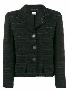 Chanel Pre-Owned 1999 striped tweed jacket - Black
