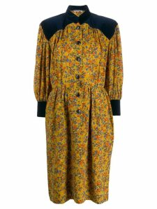 Yves Saint Laurent Pre-Owned '1980s printed dress - Yellow