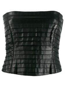 Giorgio Armani Pre-Owned 1990's layered tube top - Black