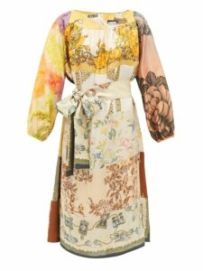 Rianna + Nina - Vintage Patchwork Print Silk Dress - Womens - Multi