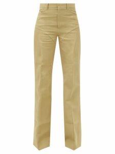 Miu Miu - Gathered Gingham Cotton Shirt - Womens - Blue Multi