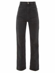 Loewe - Belted Leather Coat - Womens - Brown
