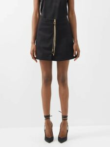 Chloé - Horse Embroidered Wool Blend Sweater - Womens - Navy Multi