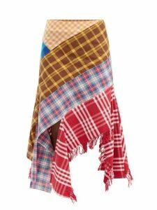 Preen By Thornton Bregazzi - Quinn Ruffled Silk Blouse - Womens - Light Brown