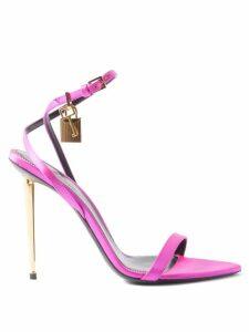 Hvn - Maria Flamingo Print Silk Midi Dress - Womens - Blue