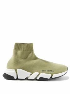 Hvn - Long Morgan Miami Print Silk Satin Dress - Womens - Light Pink