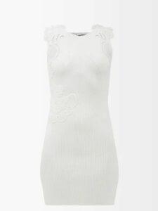 Dundas - Draped Floral Print Fil Coupé Silk Blend Gown - Womens - Green Multi