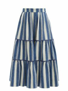 Isabel Marant Étoile - Gabrion Oversized Checked Wool Blend Blanket Coat - Womens - Ivory Multi