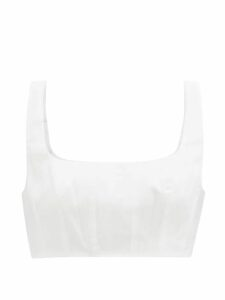Dundas - Gathered Silk Gown - Womens - Blue