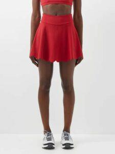 Miu Miu - Crystal Embellished Satin Mini Dress - Womens - Black Multi
