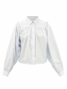 Norma Kamali - Watercolour Polka Dot Jersey Pencil Skirt - Womens - White Black