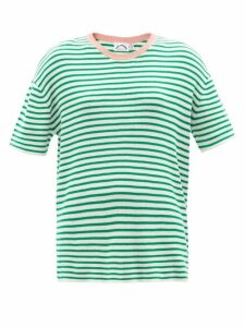 Hvn - Morgan Car Print Silk Midi Dress - Womens - Light Blue
