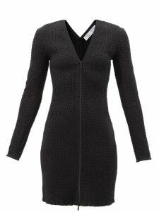 Dolce & Gabbana - Ruffled Lilium Print Shantung Coat - Womens - Pink Multi