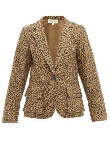 Nili Lotan - Addison Leopard Print Cotton Blazer - Womens - Leopard