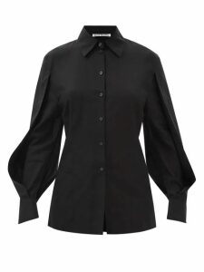 Emilia Wickstead - Autumn Pleated High Neck Crepe Midi Dress - Womens - Green
