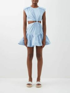 The Row - Leah Ribbed Cotton Blend Jersey T Shirt - Womens - Black