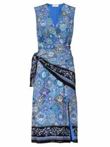 Altuzarra - Sade Paisley Print Silk Wrap Dress - Womens - Blue Print