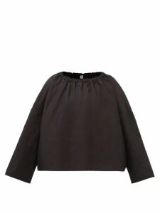 Dolce & Gabbana - Lilium Flocked Organza Knee Length Dress - Womens - Pink Multi