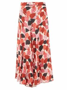 Isabel Marant - Deagan Checked Exaggerated Shoulder Wool Blazer - Womens - Dark Grey