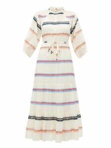 Apiece Apart - Granada Tiered Striped Cotton Dress - Womens - Cream Multi