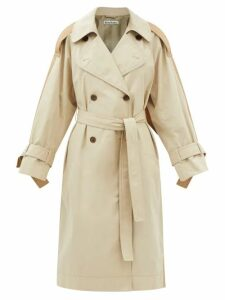 Apiece Apart - Escondido Braided Trim Cotton Maxi Dress - Womens - Dark Green