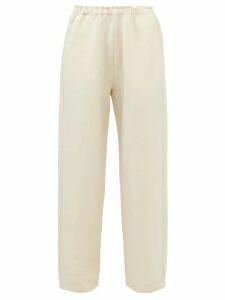 Apiece Apart - Quince Ruffled Crochet Trim Cotton Dress - Womens - Light Blue