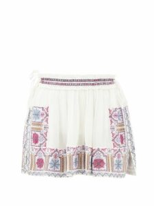 Diane Von Furstenberg - Tara High Rise Broderie Anglaise Cotton Midi Skirt - Womens - Yellow