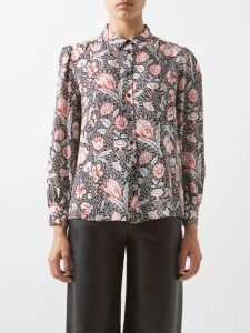 Diane Von Furstenberg - Victorious Lemon Embroidered Lace Wrap Dress - Womens - Black Multi