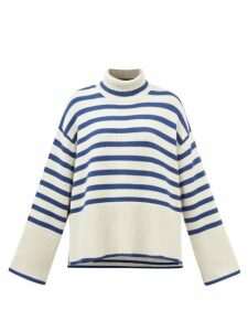 See By Chloé - Gingham Ruffled Crepe Blouse - Womens - Black White