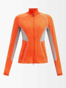 Staud - Elio Off The Shoulder Cotton Blend Maxi Dress - Womens - Orange
