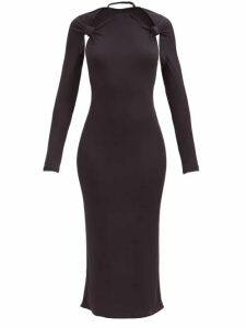 Roland Mouret - Silvabella Gathered Silk Blend Lamé Gown - Womens - Rose Gold