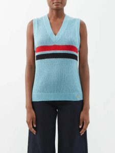 Roland Mouret - Hollywell Tie Front Wool Crepe Coat - Womens - Light Blue